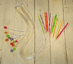 Flexible plastic tunisian crochet hook set